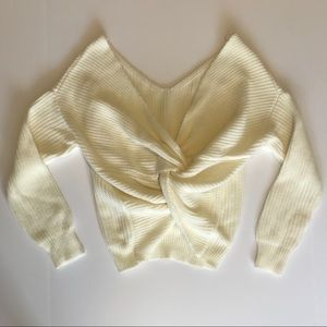 Ivory Twist Back Sweater - Small - Never Worn
